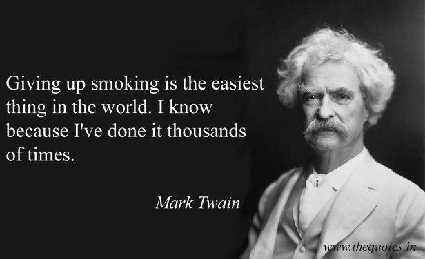 «Η διακοπή του καπνίσματος είναι ευκολότερη γιατί την έχω πράξει χιλιάδες φορές»