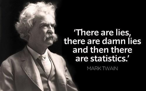 «Υπάρχουν πενιχρά ψέματα και ύστερα υπάρχει η στατιστική»