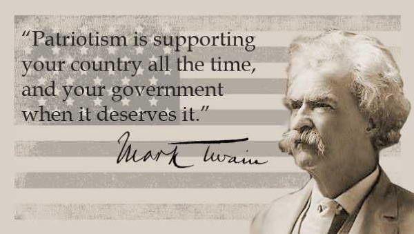 «Ο πατριωτισμός αναλογεί σε συνεχή υπεράσπιση της πατρίδας με της κυβέρνησης όταν το αξίζει»
